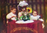 Still of the first colour moving pictures created by Frederick Turner