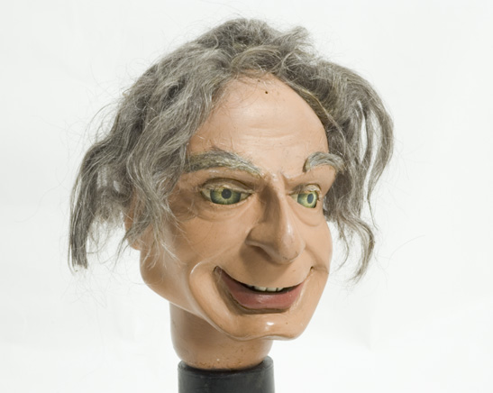 The head of a puppet of Professor Matthew Matic, from the television series Fireball XL5, c. 1962, National Media Museum Collection