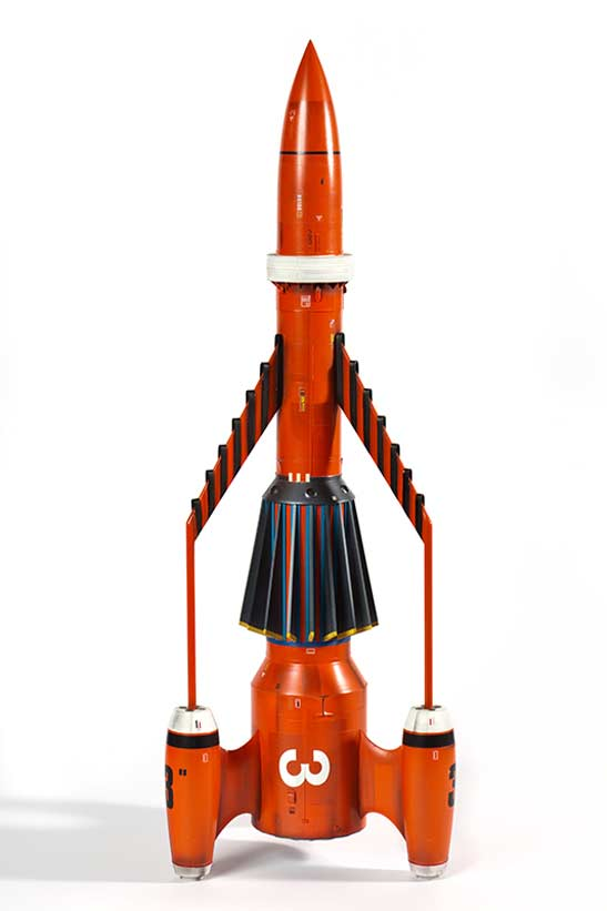 Scale model of Thunderbird 3, Martin Bower, 1991. Museum of Science and Industry, Manchester.