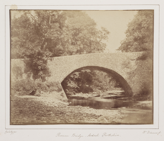 Roman Bridge, Ardoch, Perthshire, 1854, Dr. Hugh Welch Diamond, The Royal Photographic Society Collection, National Media Museum