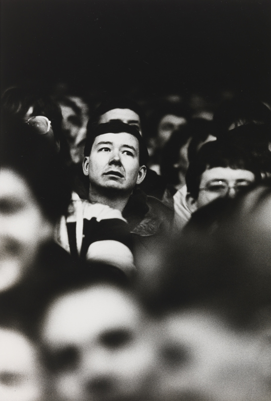Bradford Fan. Anxious moments in the stand. © Eamonn McCabe, National Media Museum Collection