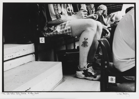Fan with tattoo. Valley Parade. 14 May 2000 © Ian Beesley, National Media Museum Collection