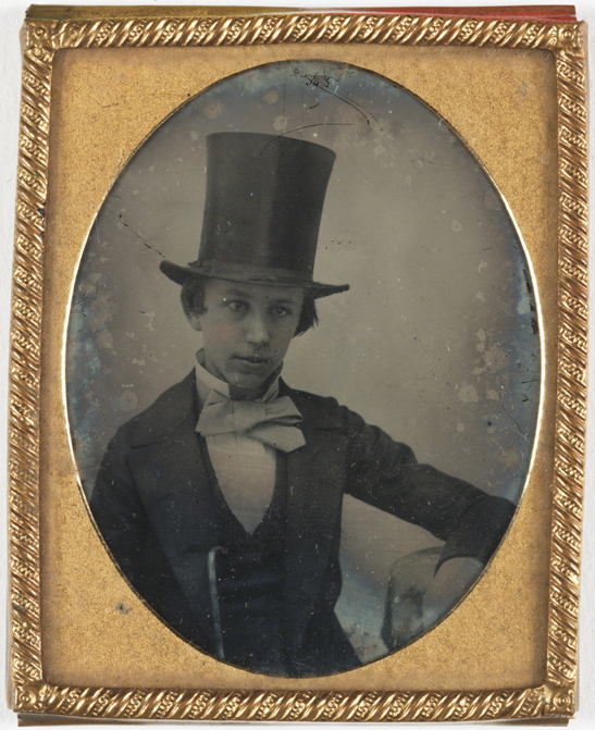 Boy wearing a top hat, c. 1858, J. Hickling, National Media Museum Collection