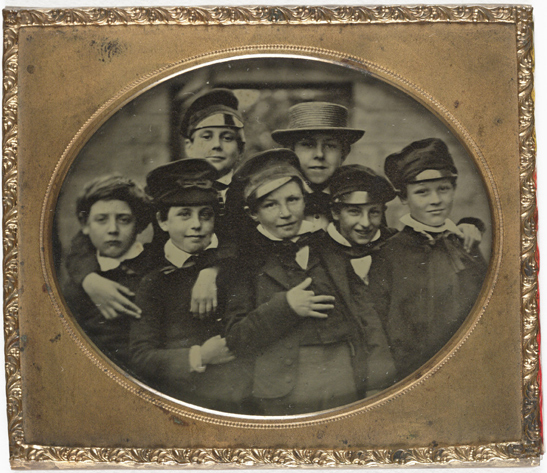Group of young boys, c. 1860, The Royal Photographic Society Collection, National Media Museum