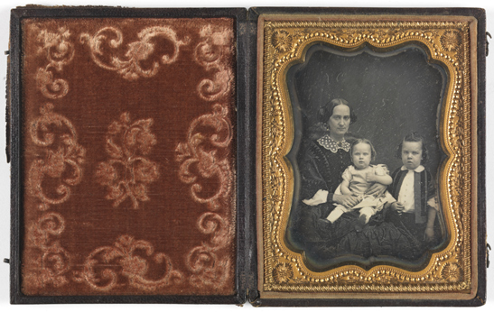 Group portrait of a woman with two children, c. 1850, National Media Museum Collection