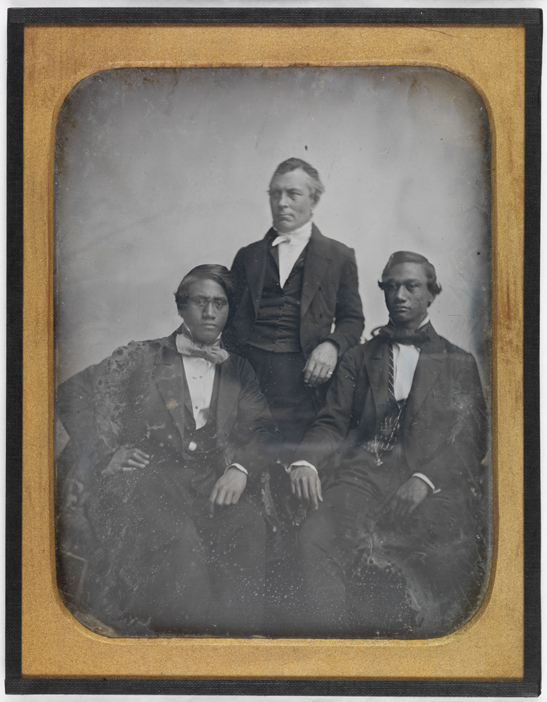 Hawaiian Princes, Alexander Liholiho & Lot Kamahameeaha and G. Parmele Judd, 1850, Albert Sands Southworth and Josiah Johnson Hawes, National Media Museum Collection