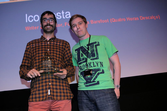 Frederico Costa (left) and Michael Wood, Shine Short Film Competition jury member