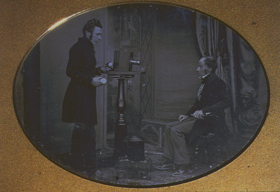 'Jabez Hogg and Mr. Johnson', 1843, Richard Beard, National Media Museum Collection