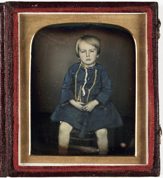 Portrait of a child (hand coloured), c. 1850, J. Paul, Kodak Collection, National Media Museum