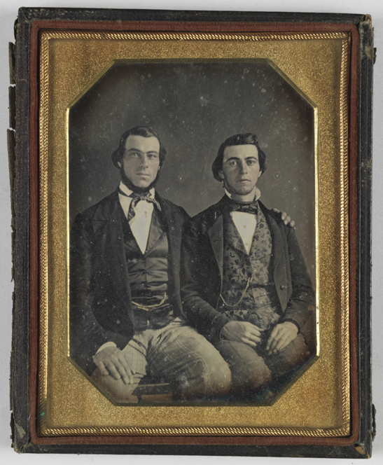 Portrait of two men, c. 1850, Kodak Collection, National Media Museum