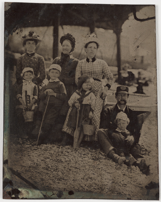 A family at the seaside, c. 1880, National Media Museum Collection