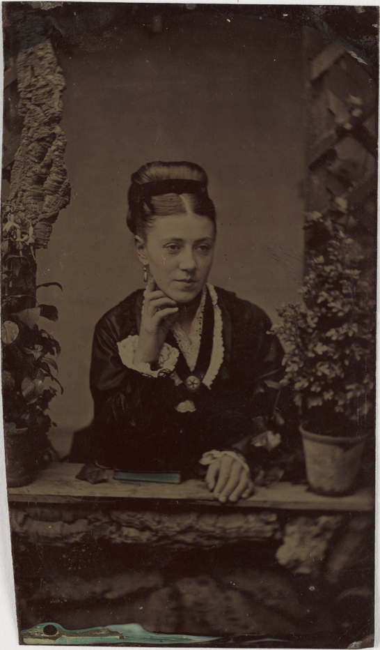 Ferrotype of a woman, c. 1880, National Media Museum Collection