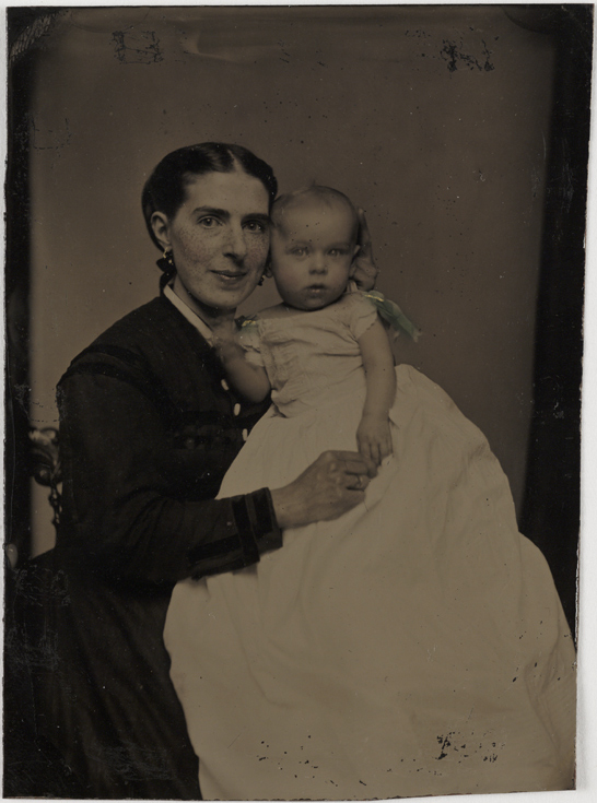 Ferrotype portrait of a mother and baby, c.1875, National Media Museum Collection
