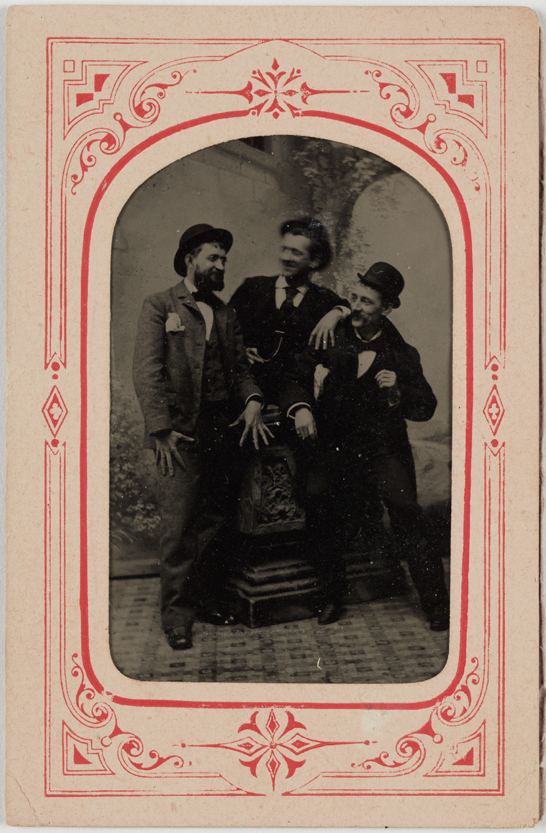 Ferrotype of three men, c. 1885, National Media Museum Collection