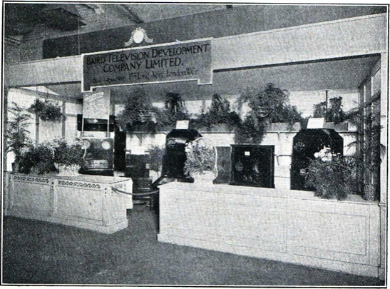 The Baird Television Development Company's stand at the Olympia exhibition, London, September 1928  (Television magazine, November 1928)