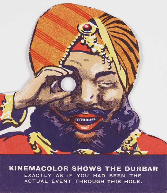 Man's head advertisement for Durbar, 1912, Charles Urban Trading Company, National Media Museum Collection