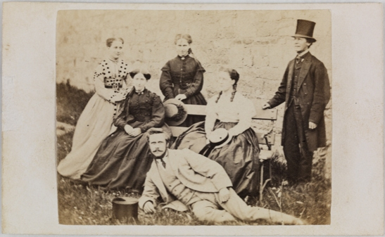 Group of six people outdoors, R. H. Kinnear, National Media Museum Collection