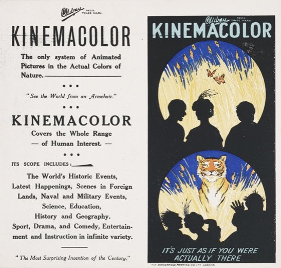 Kinemacolor advertisement, c.1911, The Natural Color Kinematograph Company Ltd, National Media Museum Collection / SSPL