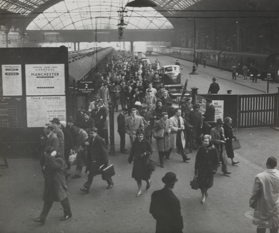 Beeching to close Manchester Central Station, 27 March 1963, Ralph, Daily Herald Archive, National Media Museum Collection / SSPL