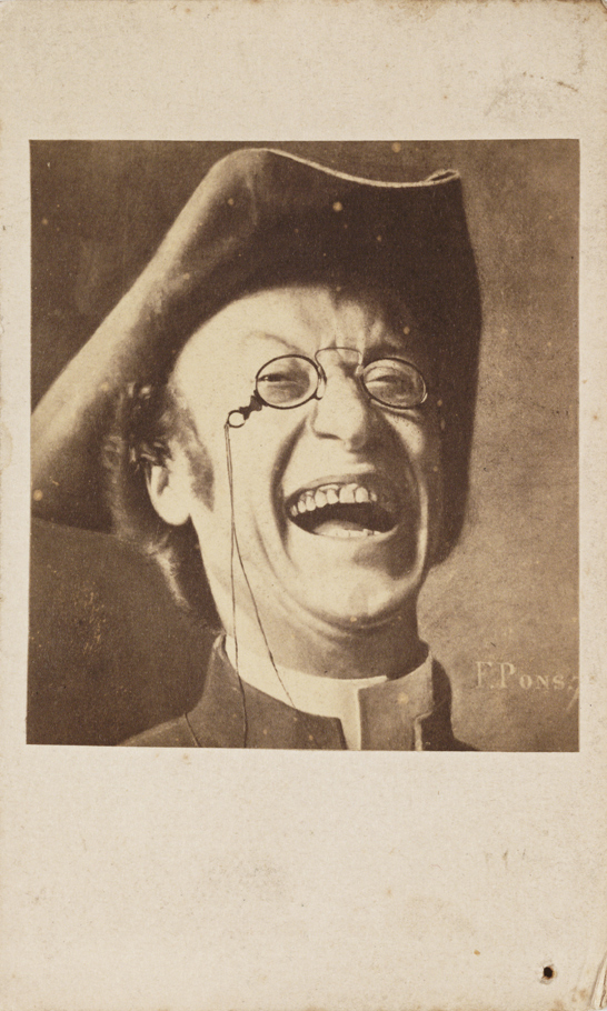 Laughing man, c.1875, F. Pons, National Media Museum Collection