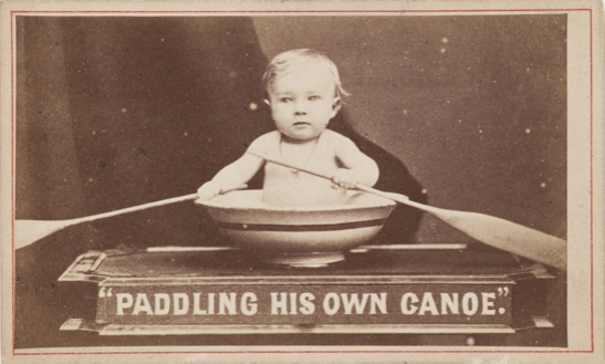 'Paddling his own Canoe', The London Stereoscopic & Photographic Company, National Media Museum Collection