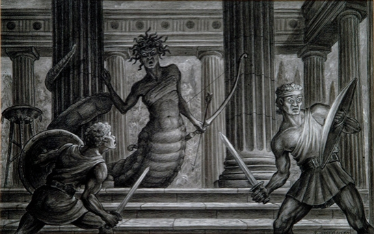 Sketch of Medusa © Ray and Diana Harryhausen Foundation