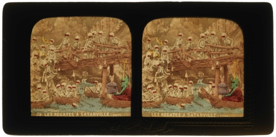 Les Régates à Satanville - Enfer [The Boat Race in Satanville – Hell], back lit, 1868, National Media Museum, Bradford / SSPL. Creative Commons BY-NC-SA