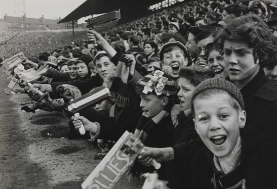 Young fans at Birmingham City vs Aston Villa football match, 1962, Terry Fincher © Daily Herald / National Media Museum, Bradford / SSPL