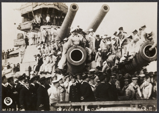 Officers and Crew of HMS Queen Elizabeth, c. 1915, unknown photographer © National Media Museum, Bradford / SSPL. Creative Commons BY-NC-SA