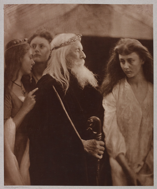 'King Lear and His Daughters', 1877, Julia Margaret Cameron, The Royal Photographic Society Collection © National Media Museum, Bradford / SSPL. Creative Commons BY-NC-SA