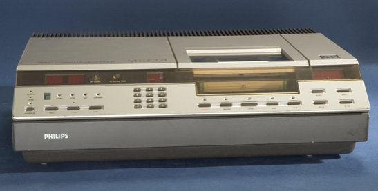 Philips V2000 video recorder, c. 1980 © National Media Museum, Bradford / SSPL. Creative Commons BY-NC-SA