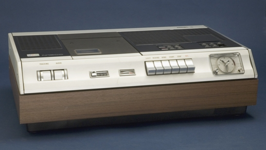 Philips N1500 video recorder, c. 1972 - the first consumer grade VCR © National Media Museum, Bradford / SSPL. Creative Commons BY-NC-SA