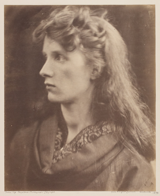 'Profile of the Mountain Nymph', 1870, Julia Margaret Cameron, The Royal Photographic Society Collection © National Media Museum, Bradford / SSPL. Creative Commons BY-NC-SA