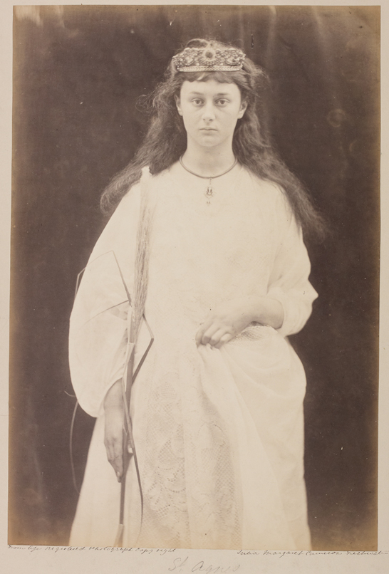 'St Agnes', c. 1872, Julia Margaret Cameron, The Royal Photographic Society Collection © National Media Museum, Bradford / SSPL. Creative Commons BY-NC-SA