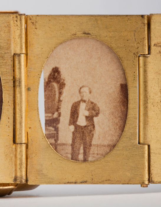 Portrait of Tom Thumb from a gilt locket containing 12 albumen prints, c. 1864, The Royal Photographic Society Collection © National Media Museum, Bradford / SSPL. Creative Commons BY-NC-SA