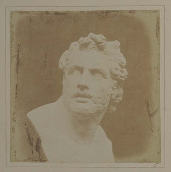 Plate V from The Pencil of Nature, Bust of Patroclus, William Henry Fox Talbot © National Media Museum, Bradford / SSPL. Creative Commons BY-NC-SA