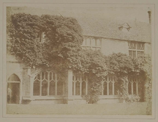 Plate XVI from The Pencil of Nature, Cloisters of Lacock Abbey, William Henry Fox Talbot © National Media Museum, Bradford / SSPL. Creative Commons BY-NC-SA