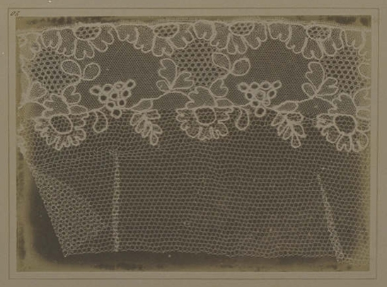 Plate XX from The Pencil of Nature, Lace, William Henry Fox Talbot © National Media Museum, Bradford / SSPL. Creative Commons BY-NC-SA