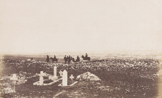 Officers on the lookout at Cathcart's Hill, Crimea, 1855, Roger Fenton, The Royal Photographic Society Collection © National Media Museum, Bradford / SSPL. Creative Commons BY-NC-SA