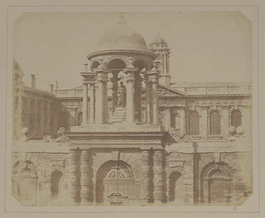 Plate XIII from The Pencil of Nature, Queens College Oxford, Entrance Gateway, William Henry Fox Talbot © National Media Museum, Bradford / SSPL. Creative Commons BY-NC-SA