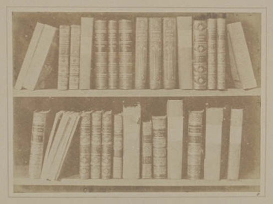 Plate VIII from The Pencil of Nature, Scene in a Library, William Henry Fox Talbot © National Media Museum, Bradford / SSPL. Creative Commons BY-NC-SA
