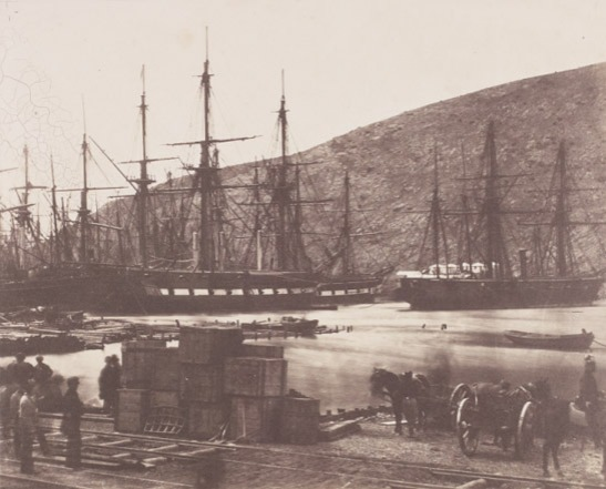 The Head of the Harbour, Balaklava, Crimea, 1855, Roger Fenton, The Royal Photographic Society Collection © National Media Museum, Bradford / SSPL. Creative Commons BY-NC-SA