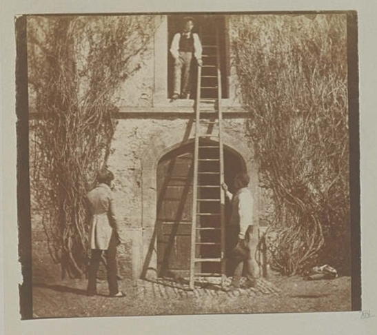 Plate XIV from The Pencil of Nature, The Ladder, William Henry Fox Talbot © National Media Museum, Bradford / SSPL. Creative Commons BY-NC-SA