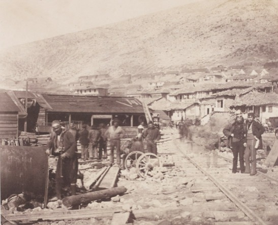 The Railway Yard, Balaklava, Crimea, 1855, Roger Fenton, The Royal Photographic Society Collection © National Media Museum, Bradford / SSPL. Creative Commons BY-NC-SA