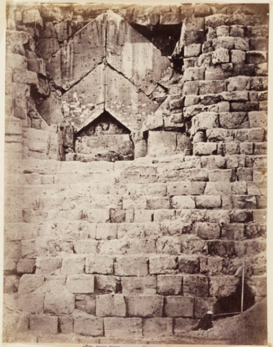 Charles Piazzi Smyth (1819-1900) Entrance to the Great Pyramid of Giza, 1865 Albumen print National Media Museum