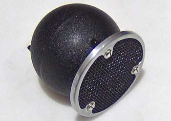 First introduced in 1935, this later 'F' version of the classic STC 4021 'Apple and Biscuit' microphone dates from about 1965 (BBC Collection)