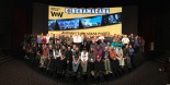 Delegates on stage at Widescreen Weekend 2016